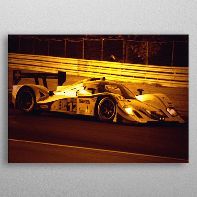 Racing at Dawn metal poster