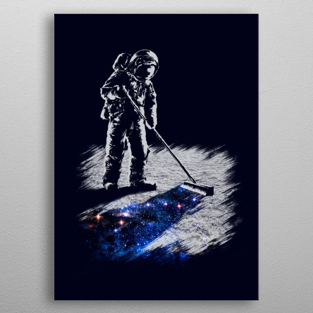 Stardust Sweeper metal poster