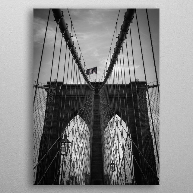 Brooklyn Bridge metal poster