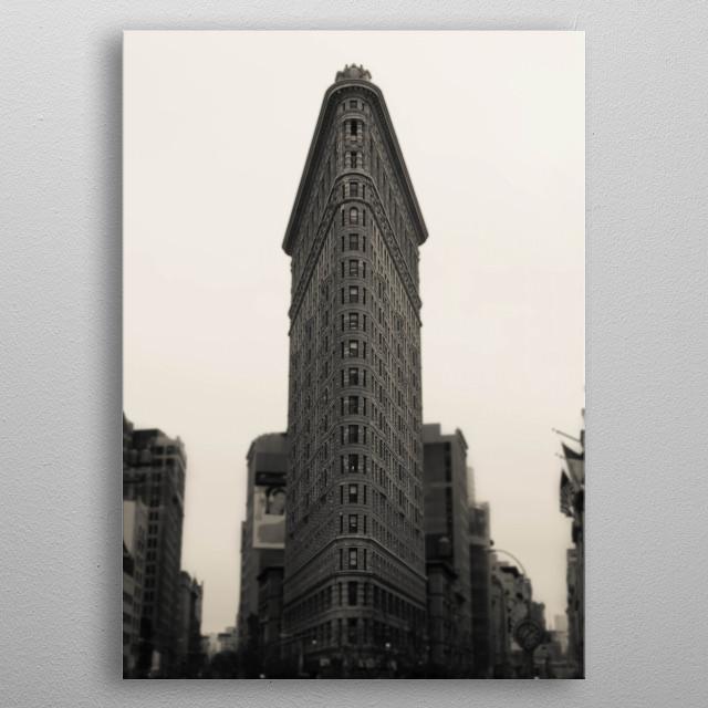 Flatiron Building - NYC metal poster