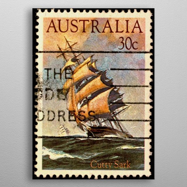 Australian stamp metal poster