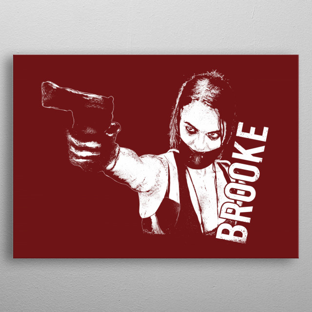 BROOKE in Red . From Wyrmwood . An Aussie Independant Zombie Film metal poster