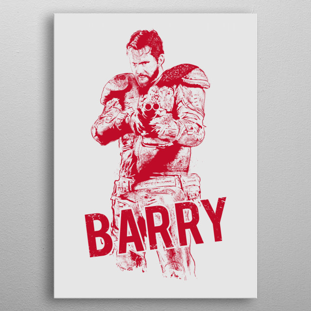 Barry in red . From Wyrmwood - An Aussie Independant Zombie Film ! metal poster