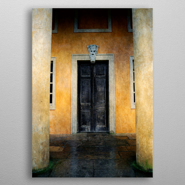 Spooky Door metal poster