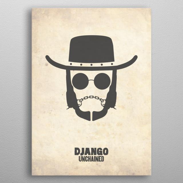 'Django Unchained' Movie Poster metal poster