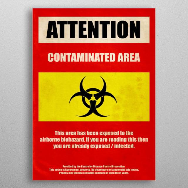Biohazard warning metal poster