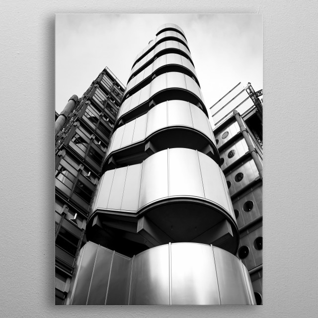 Lloyds building metal poster