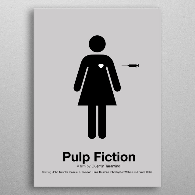 Pulp Fiction Movie Poster metal poster