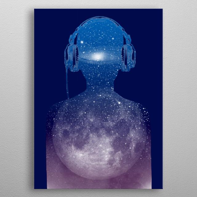Music space metal poster