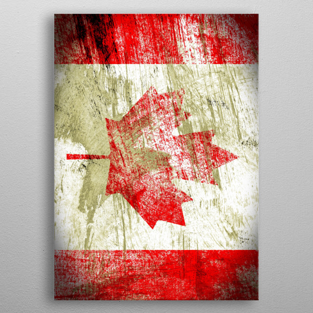 The Maple Leaf metal poster
