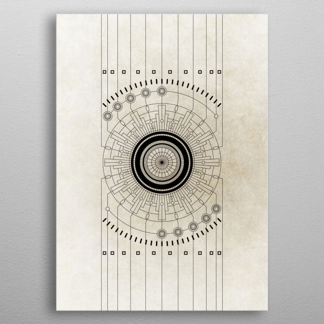 Geometric No.05 metal poster
