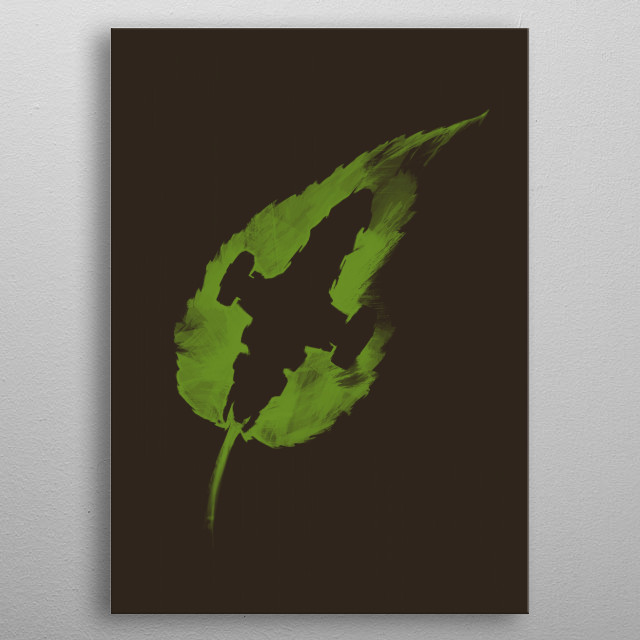 A Leaf on the Wind metal poster