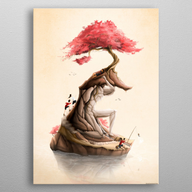 Revenge of the Nature VII: Atlas Holding the New World / The Island of Atlas metal poster