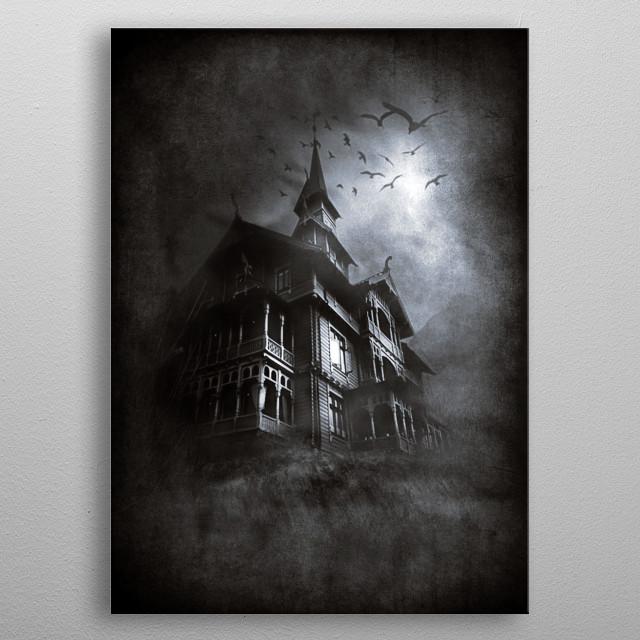 Mansion of Horror metal poster