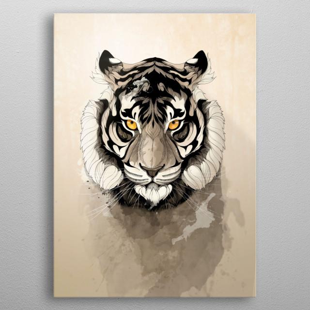 Tiger metal poster