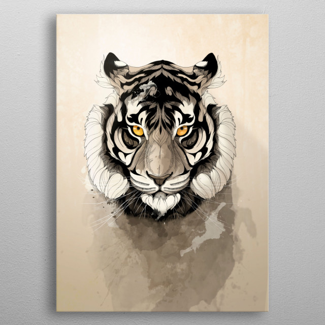 High-quality metal print from amazing Wild Animals collection will bring unique style to your space and will show off your personality. metal poster
