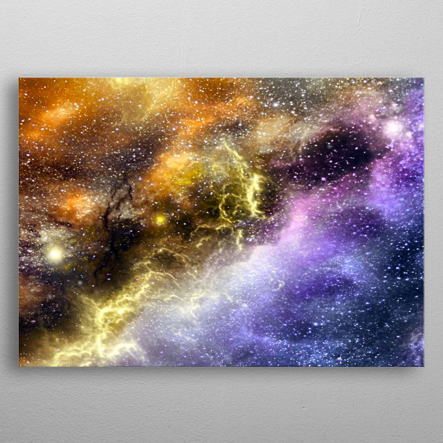 High-quality metal print from amazing Space collection will bring unique style to your space and will show off your personality. metal poster