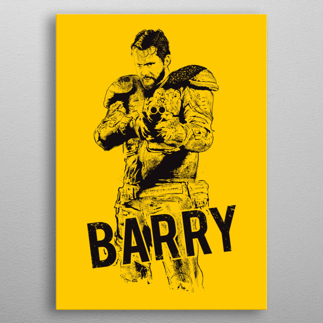 Barry, yellow background . From Wyrmwood - An Aussie Independant Zombie Film ! metal poster