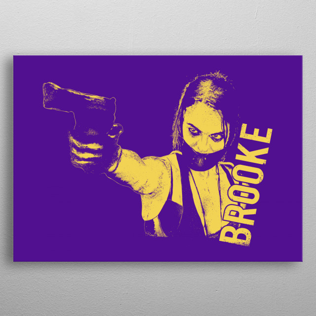 BROOKE, Yellow/Purple . From Wyrmwood . An Aussie Independant Zombie Film ! metal poster