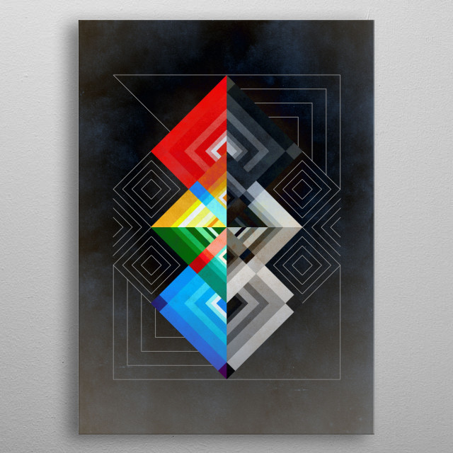 Geometric No.06 metal poster