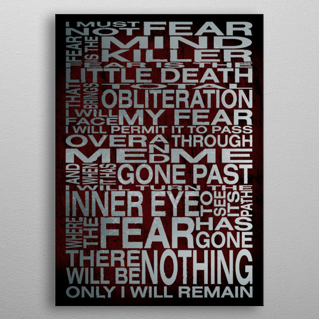The Litany Against Fear metal poster