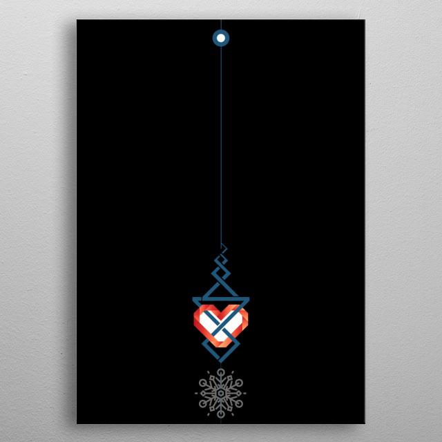 Frozen Heart metal poster