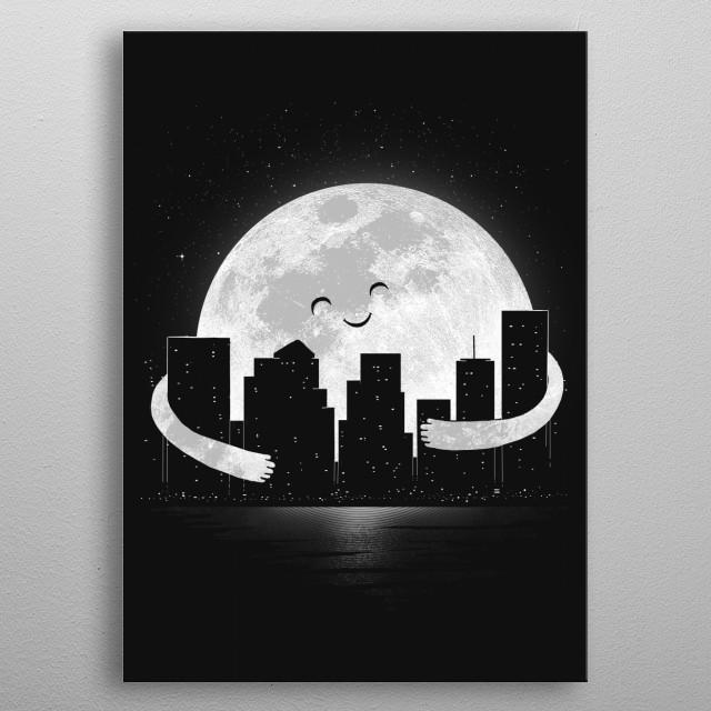 Goodnight! metal poster