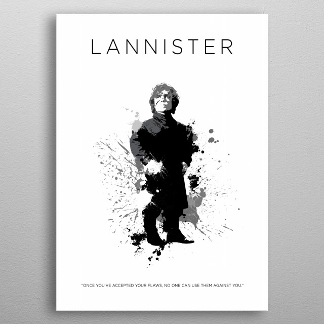Tyrion Lannister metal poster