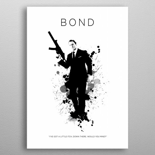 James Bond 007 metal poster