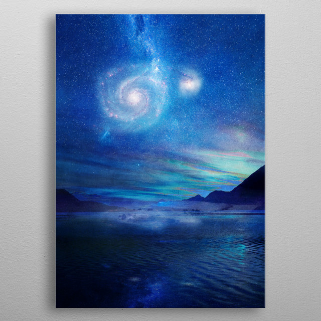 Poetry in the sky metal poster