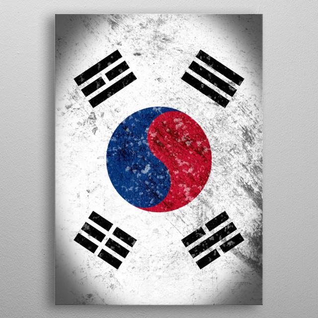 Taegukgi metal poster