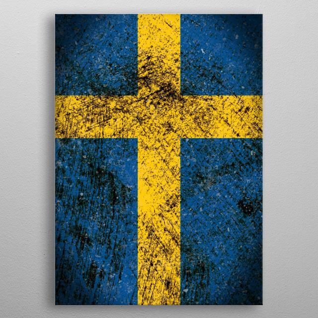 Konungariket Sverige metal poster