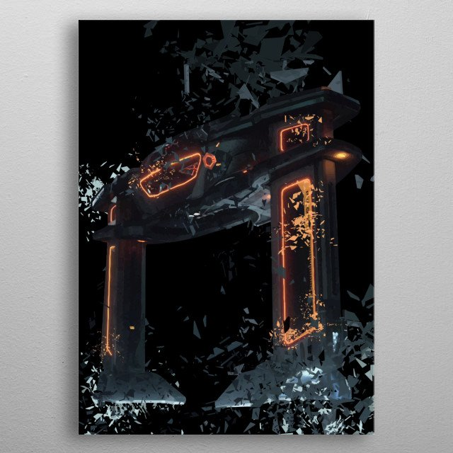 Fascinating metal poster designed by Nerdiful Art. Displate has a unique signature and hologram on the back to add authenticity to each design. metal poster