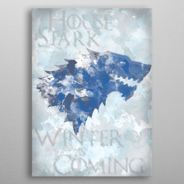 House Stark - Winter is Coming metal poster