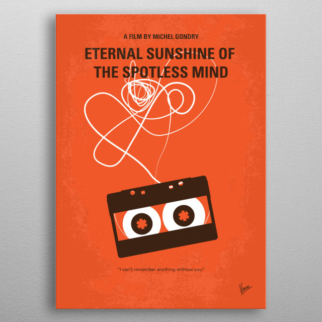 No384 My Eternal Sunshine of the Spotless Mind minimal movie poster  When their relationship turns sour, a couple undergoes a procedure to ha... metal poster