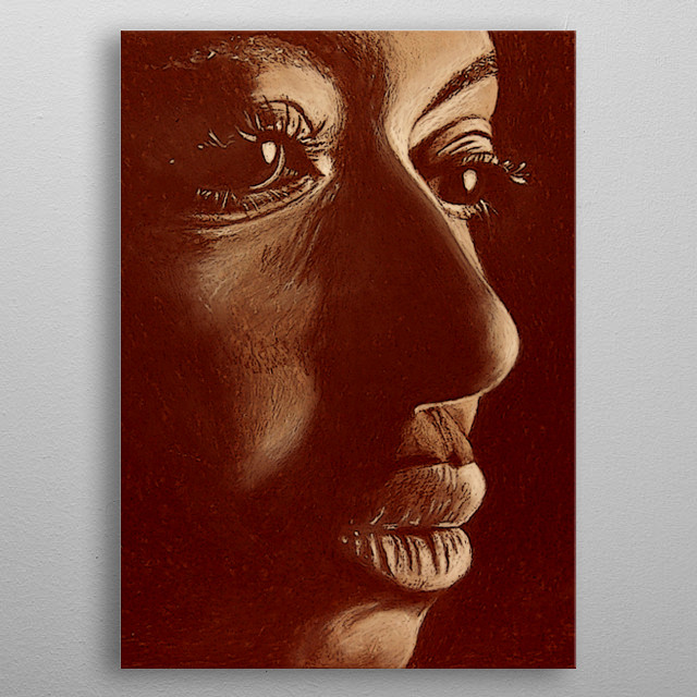 mama africa in brown metal poster