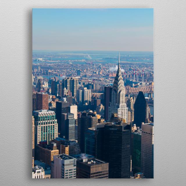 Chrysler Building, New York City metal poster