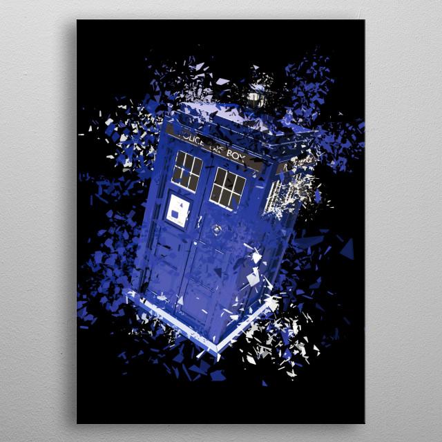 The TARDIS metal poster