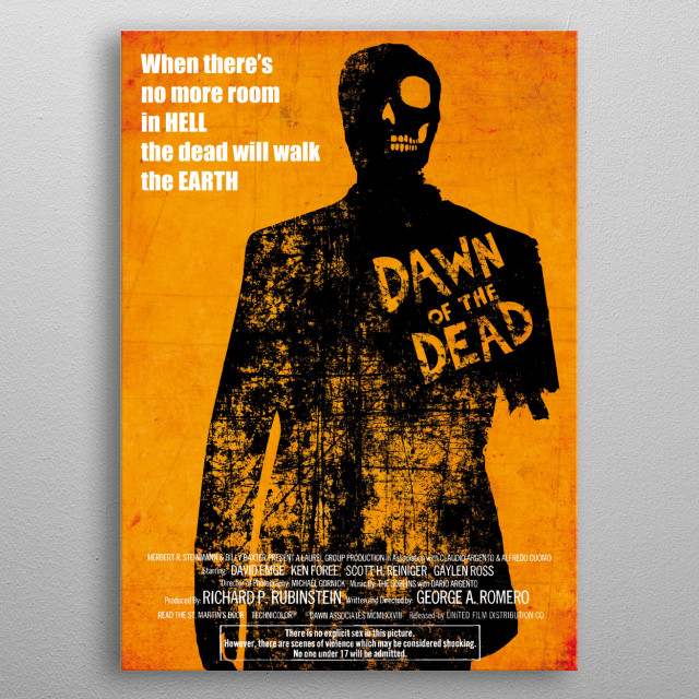 Dawn of the Dead Custom Movie Poster metal poster
