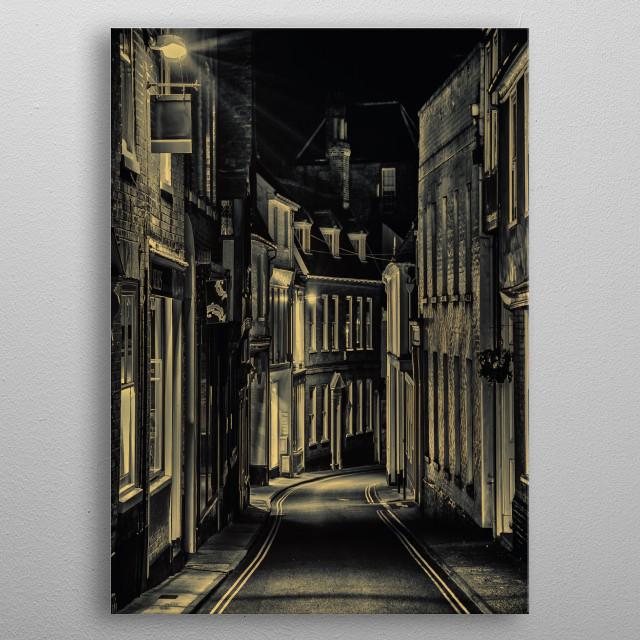 Night Street metal poster