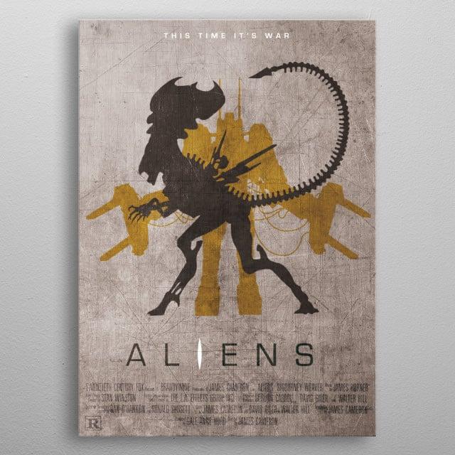 Aliens Custom Movie Poster metal poster