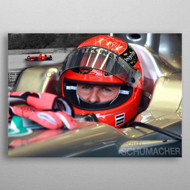 Formula 1 legend Michael Schumacher metal poster