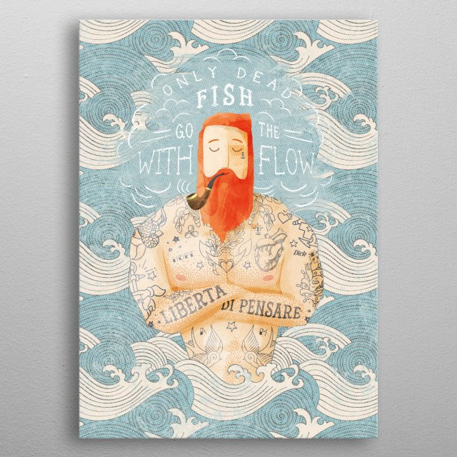 High-quality metal print from amazing Sailor collection will bring unique style to your space and will show off your personality. metal poster