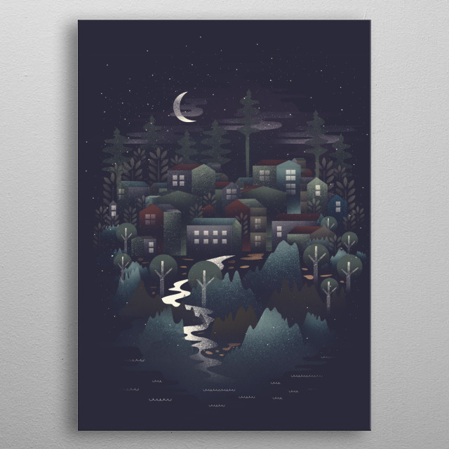 High-quality metal print from amazing Whimsical Nature collection will bring unique style to your space and will show off your personality. metal poster