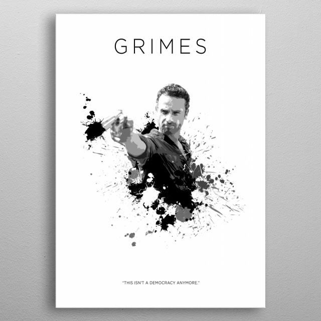 Rick Grimes metal poster