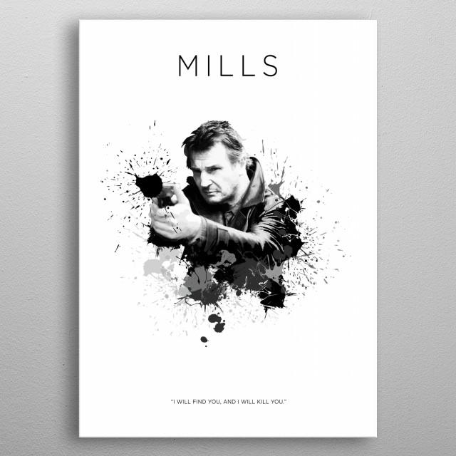 Bryan Mills metal poster