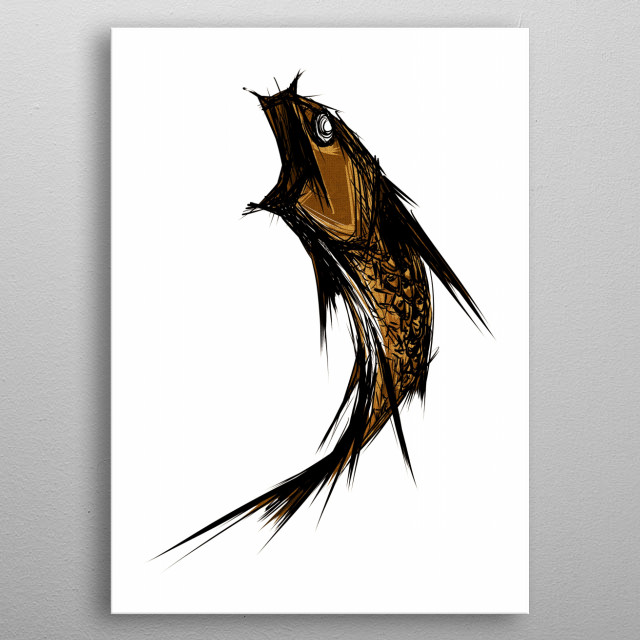 High-quality metal print from amazing Fish collection will bring unique style to your space and will show off your personality. metal poster