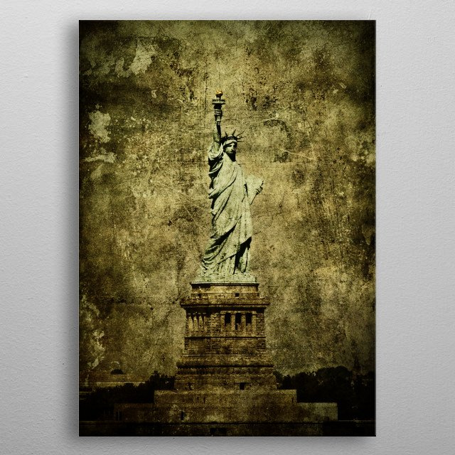 The Statue of Liberty, NY, USA. metal poster
