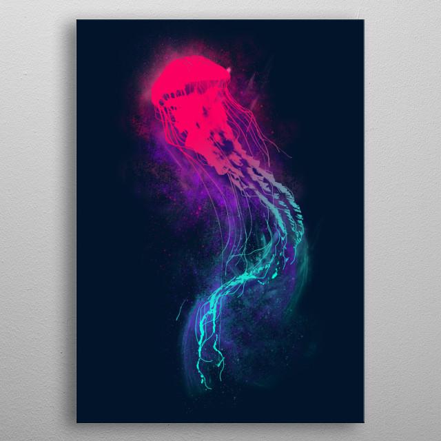 Glow metal poster