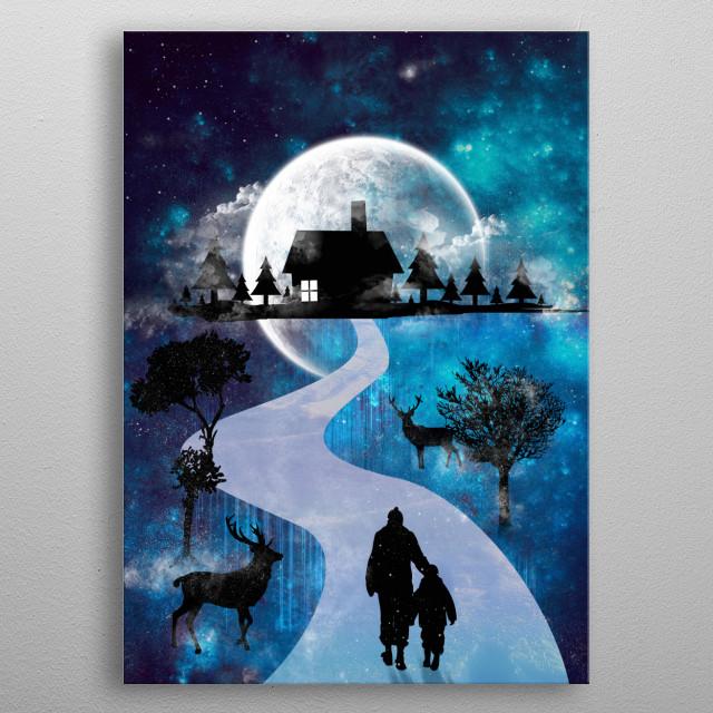 Way Back Home metal poster